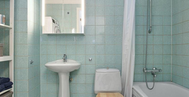 Flislagt bad/wc