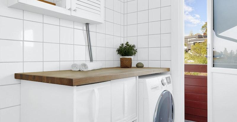 Plass til vaskemaskin på bad