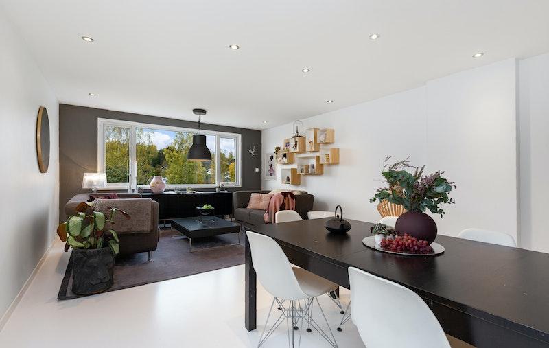 Lys og luftig stue