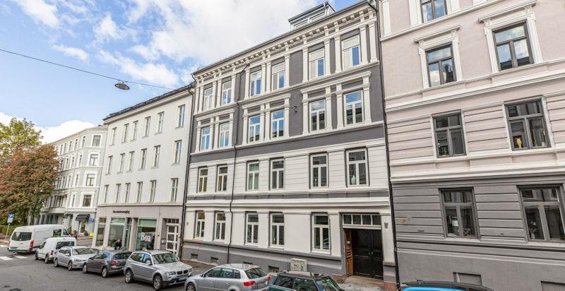 Fasaden til Schønings gate 5 A/B.