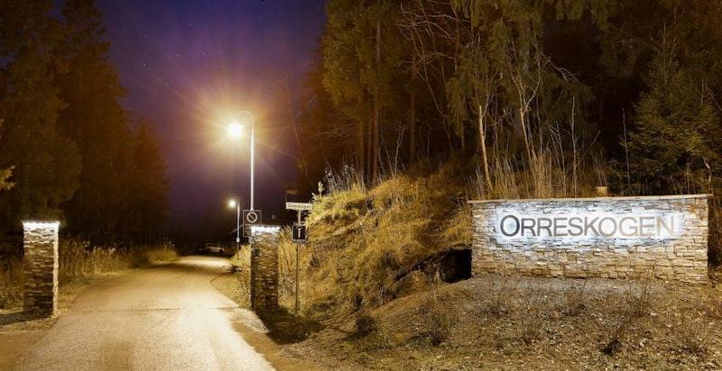 Innkjøring til Orreskogen