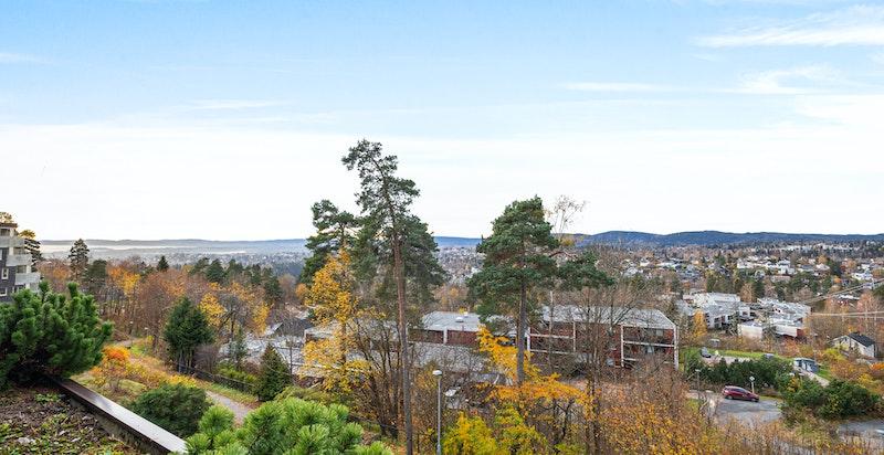 Fri utsikt mot fjorden og Bærumsmarka