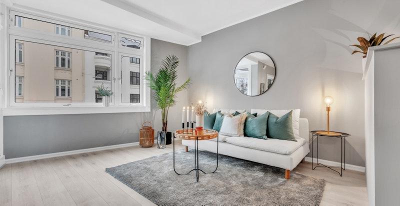 Velkommen til Frederik Stangs Gate 35. En stor 1-roms leilighet med svært sentral beliggenhet på beste Frogner.