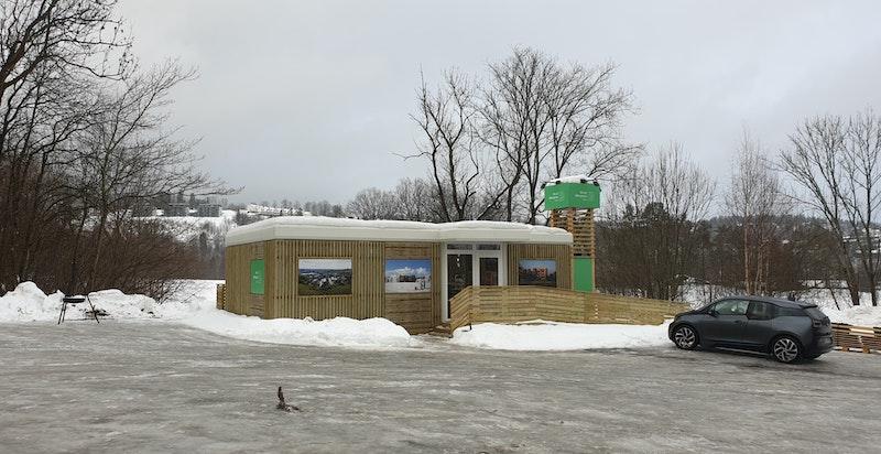 Velkommen til visningssenteret på p-plassen bak Nesbru Videregående skole