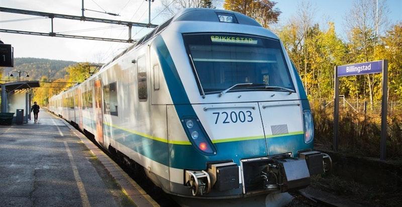 Tog fra Hvalstad og Billingstad - men buss er raskest til byen (ca. 39 min til Oslo-S).