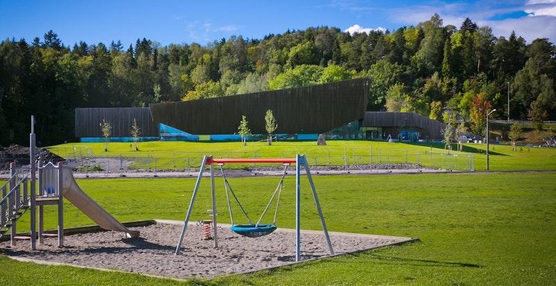 Ved Holmenskjæret er det en helt ny og flott svømmehall.