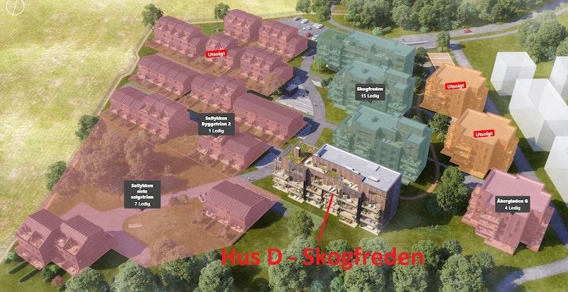 Nå lanseres også siste bygg i Skogfreden - Hus D.
