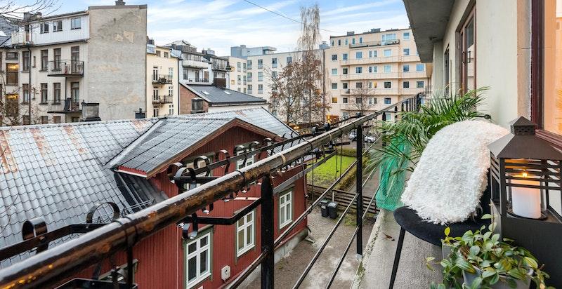 Balkong mot bakgård (blir utvidet i 2020)