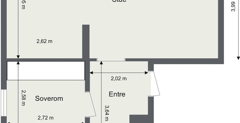 Oksenøyveien 41 A- 4.etg-Lnr 9- 2019296 - 1. Etasje - 2D Floor Plan