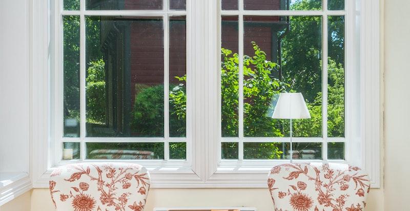 Store vindusflater med fine detaljer