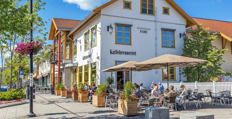 Nærområde - mange hyggelige kaféer og spisesteder i Jessheim sentrum