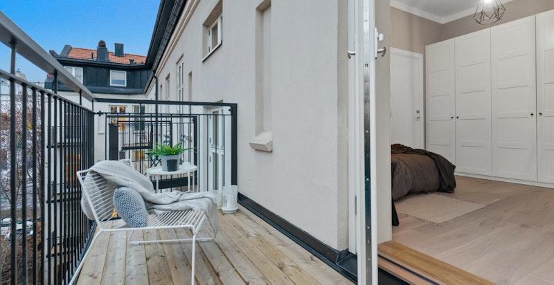 Hyggelig balkong.