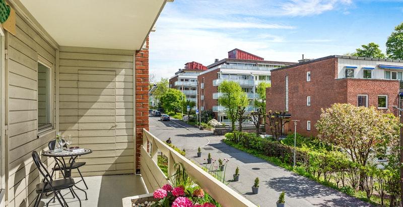 Olav Kyrres gate 8 ligger innerst i blindvei