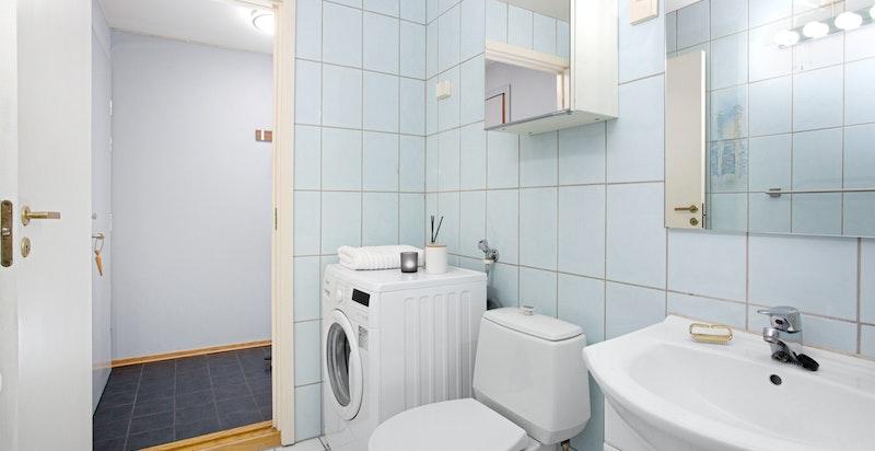 Badet har opplegg for vaskemaskin