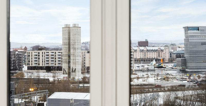 Utsikt fra stuevinduet.