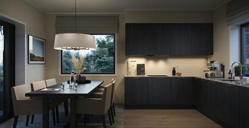 Kjøkken i konseptet Elegant.Illustrasjon.