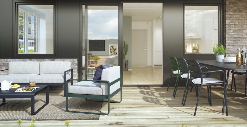 Terrasse- kunstnerisk illustrasjon
