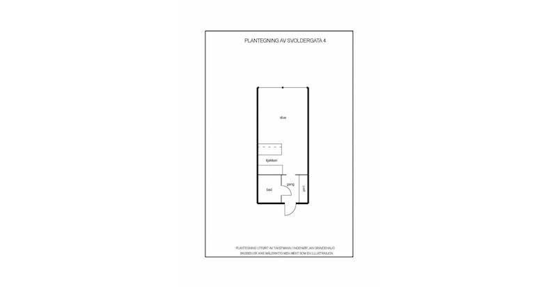 Plantegning av leilighet