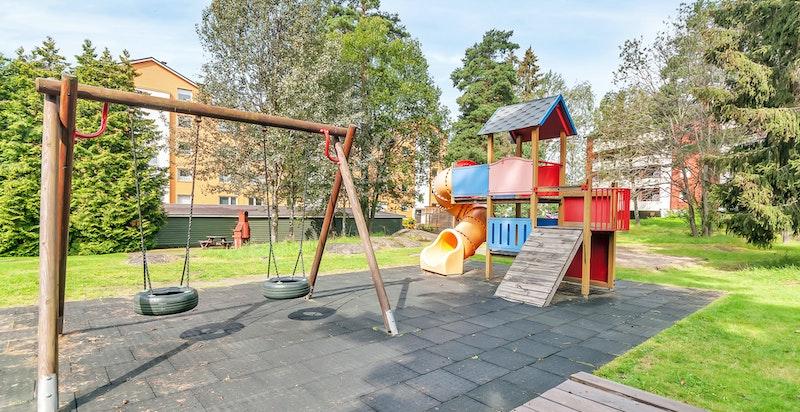 Nabolaget har et godt oppvekstmiljø for barn.