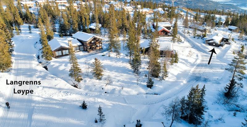 Flott beliggenhet rett ved lagrennsløyper og alpinanlegget