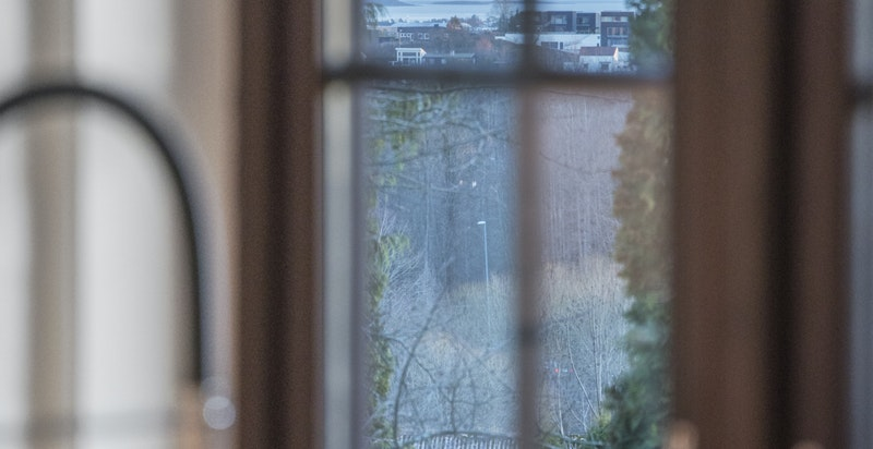 Utsikt mot Oslofjorden fra kjøkkenet