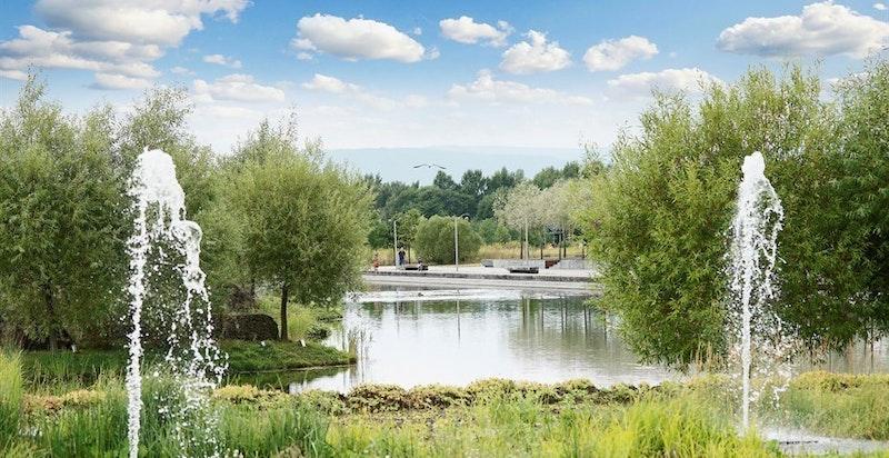 Nansenparken tilbyr store grøntarealer og rikelige turmuligheter