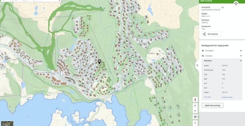 Staulsvegen 58 på kommunekart.com