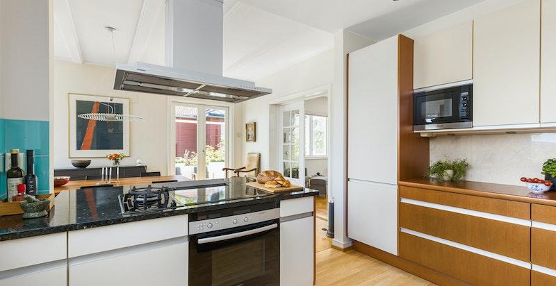 Kjøkken med gassbluss