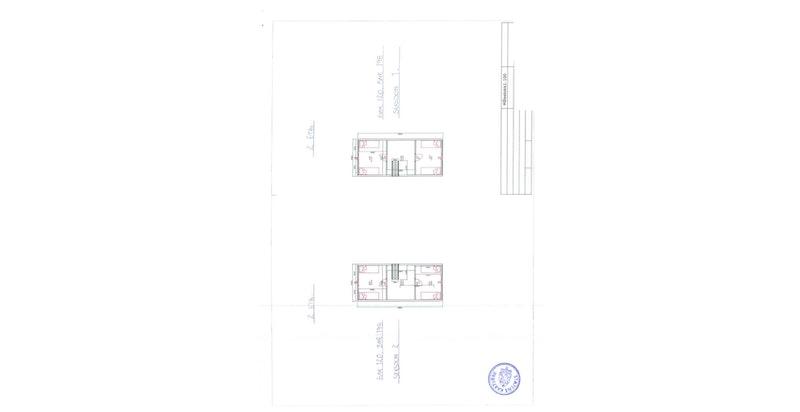 Plantegning 2. etasje. Hytta er merket seksjon 2