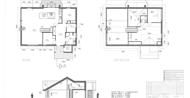 Plan- og fasadetegning
