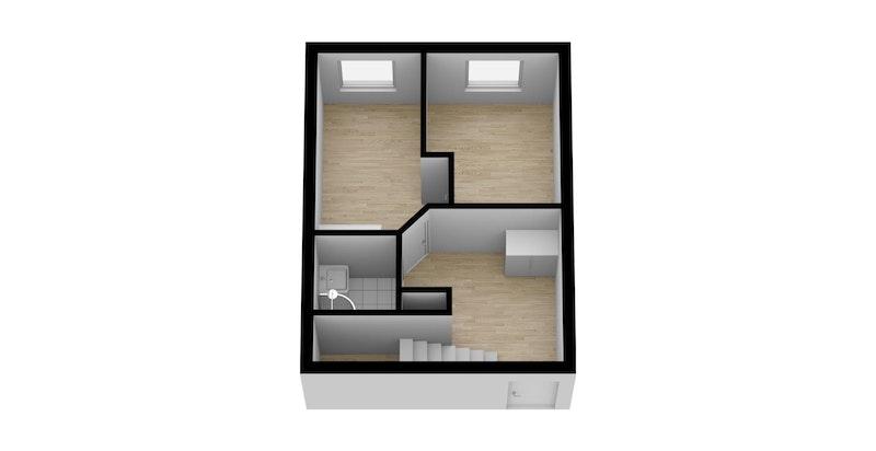 Planskisse 2. etasje - 3D