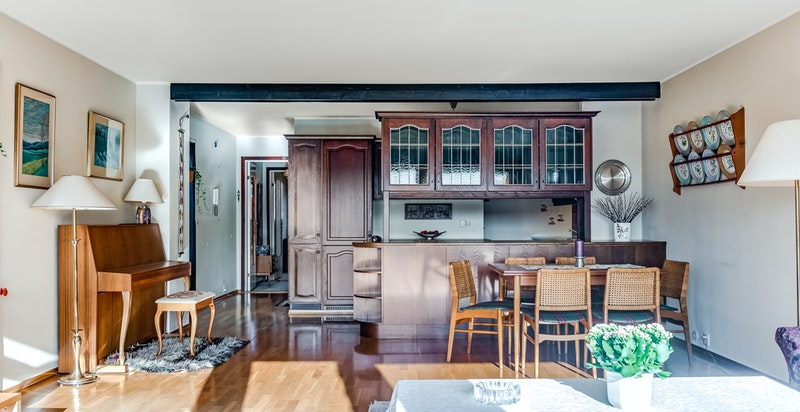 Stuen og kjøkken