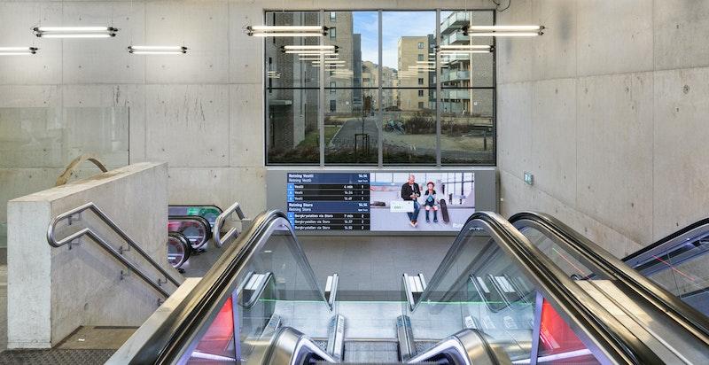 Løren T-bane åpnet i 2016. Linje 4 stopper her.