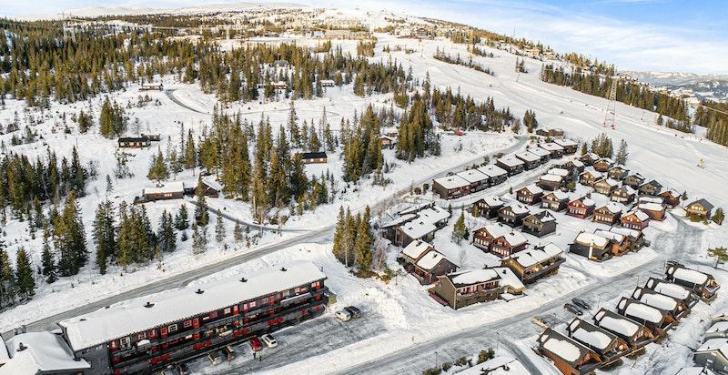 Fra leiligheten er det ski in/out