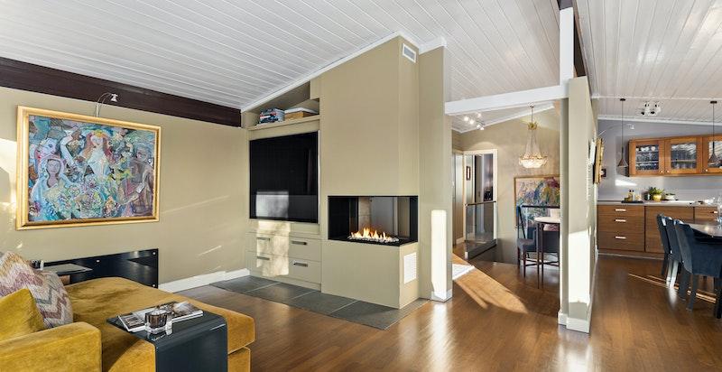 Gasspeis i stue (installert i 2014)