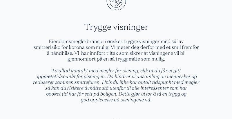Trygge visninger - vennligts les.