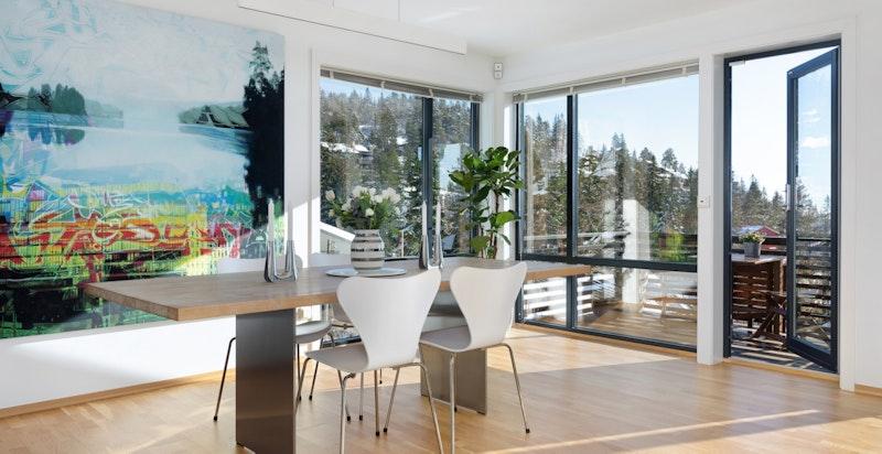 Stue med utgang balkong