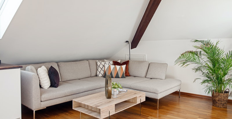 Sofakroken i stuen/kjøkken