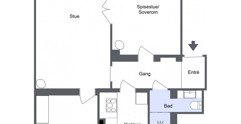 Planskisse høy 1. etasje