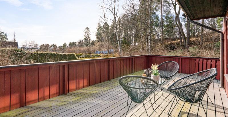 Terrasse har også lite innsyn