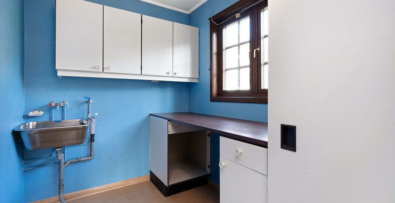 Praktisk vaskerom i tilknytning til kjøkken