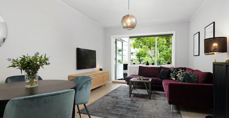 Åpen og gjennomgående løsning mot stue