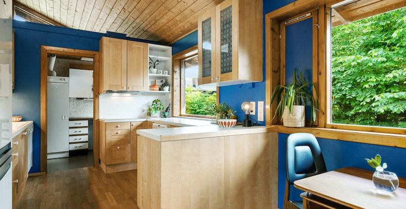 Vaskerom innenfor kjøkkenet