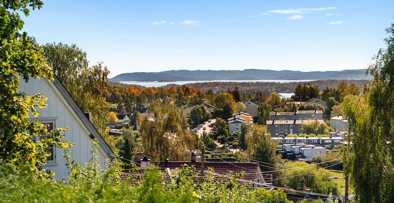 Utsikten sett fra takterrassen