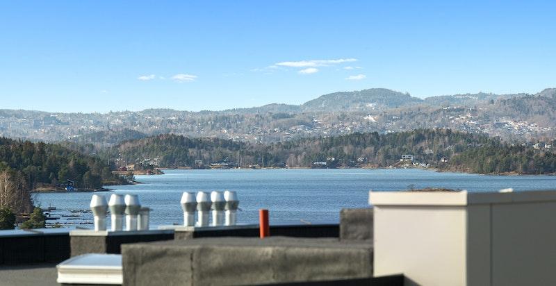Utsyn fra terrasse