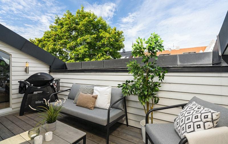 10 kvm vestvendt terrasse