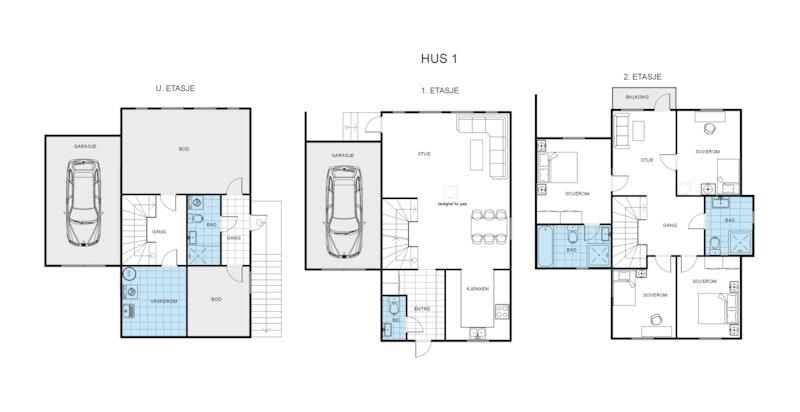 Tomannsbolig - Hus 1