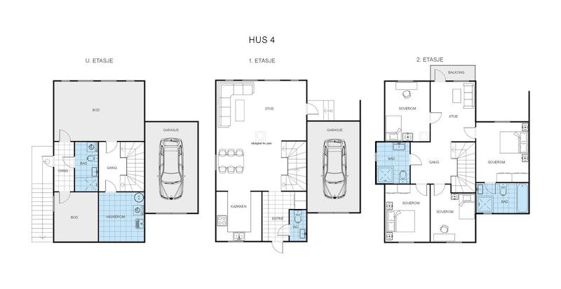 Tomannsbolig - Hus 4