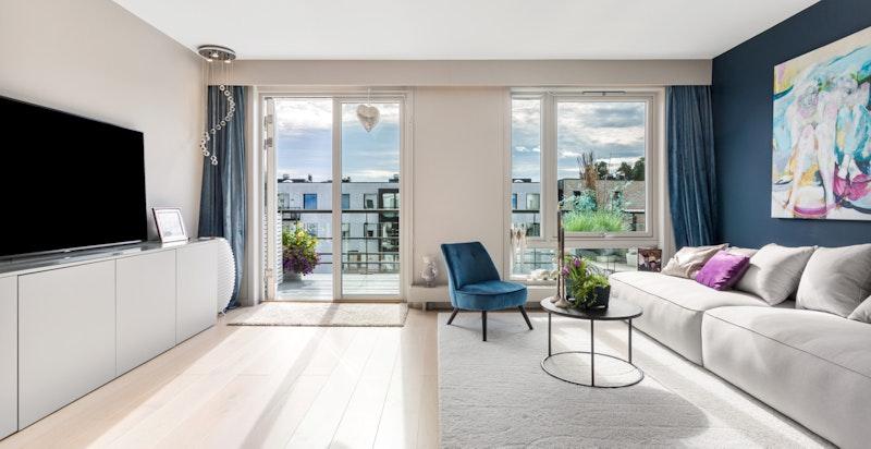 Velkommen til Lysaker Brygge 20 - lys toppleilighet med meget pen standard