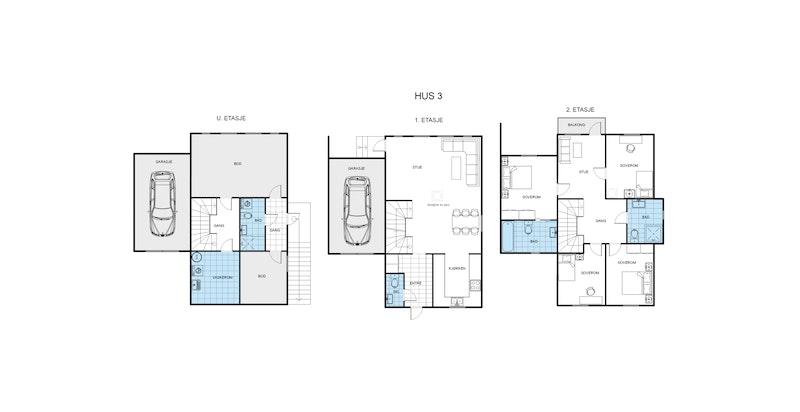 Tomannsbolig - Hus 3